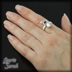Mother's Birthstone Ring - Choose your birthstone - Baby Foot Ring with Cute Little Toes and Wrinkles - LS2124