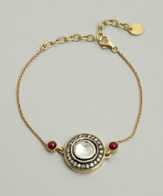 Amrapali: diamond and ruby stone chain bracelet