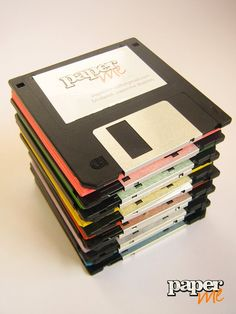 Libretas con tapa de disquette reciclados!