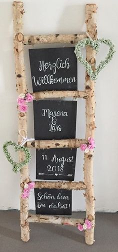 Legend Tischdeko Hochzeit – Deco idea for the wedding Welcome sign – # ideae – Dekoration Hochzeit - Wedding Table Wedding Welcome Signs, Wedding Signs, Wedding Table, Diy Wedding, Rustic Wedding, Dream Wedding, Birch Wedding, Wedding Ideas, Wedding Programs