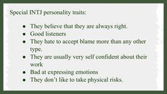 INTJ - personality traits though I'm usually pretty good at physical risks as long as I feel it is for a good reason.
