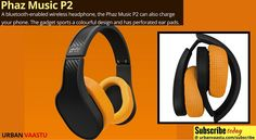 Phaz Music P2 - A Bluetooth-Enabled Wireless Headphone, Also Charge Your Phone