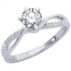 158-Carat-Elegant-Twisting-Split-Shank-Diamond-Engagement-Ring-with-a-15-Carat-I-J-SI2-I1-Center-0
