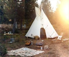 gotta love camping in a teepee - yahoo this is for you @Lea Colombo Eastman