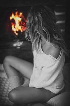 *Enjoying the fire  (Touch of Color)