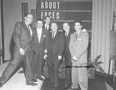 The Dead End Kids in L-R Bernard Punsley, Leo Gorcey, Bobby Jordan, host Ben Alexander, Huntz Hall and Billy Halop on TVs 'About Faces' 1960 (Gabriel Dell is not present). Classic Movie Stars, Classic Movies, Billy Halop, Leo Gorcey, The Bowery Boys, The Age Of Innocence, Innocent Child, Dead Ends, Film Releases