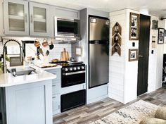 Home Renovation Costs Remember that time we got our RV kitchen looking nicer then our bricks and mortar kitchen ever did.at a fraction of the cost! Camper Renovation, Home Renovation, Home Remodeling, Camper Remodeling, Bus Living, Tiny House Living, Layout Design, Design Ideas, Tri Level House