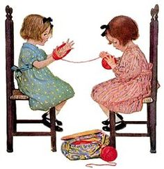 Norman Rockwell knitting pic