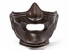 Myochin school, Mid Edo Period (1615-1867) Samurai armour's mask