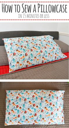 How to Sew a Pillowcase [In 15 Minutes!] Quickly make a basic standard sized pillowcase following this step by step tutorial– Mary Martha Mama #sewing #sewingprojects