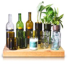 Refresh Glass Products - Glasses, Candles, Planters and More Made from Wine Bottles - donated to Phoenix Children's Hospital.