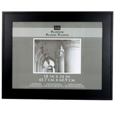 black hampton home collection frame by studio dcor 18 x 24