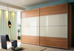 Rauch Juwel B Sliding Wardrobe with Glass Overlay Centered