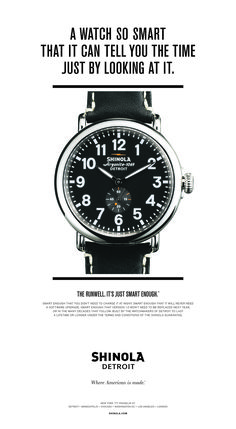 Shinola Takes Aim at Apple Watch in New Ad - Fortune