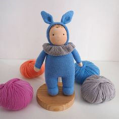 Waldorf baby boy doll waldorf toy knitted doll boy handmade