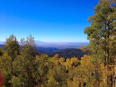 View overlooking Santa Fe from Santa Fe National Forest