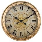Provide an elegant and marvelous addition to any space in your home with the help of this affordable Yosemite Home Decor Gilded Round Gear Clock. Howard Miller Wall Clock, Gold Wall Clock, Sunrise Alarm Clock, Analog Alarm Clock, Gear Clock, Gold Wood, Gold Gilding, Decor