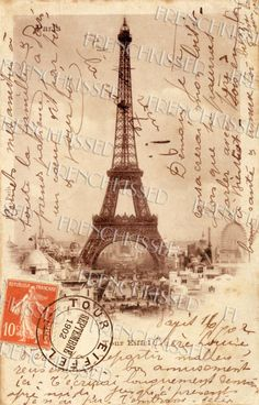 ANTIQUE FRENCH SCRIPT