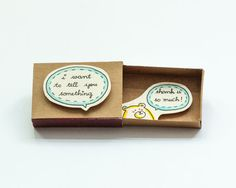 Thank you card Matchbox / Gift box / Message box I just by shop3xu