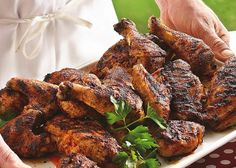 Grilled Beer-Brined Chicken (similar to the brine & seasonings we use for Beer Can Chicken, but this is a cut-up chicken)