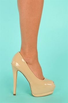 nude shoes. I like the way these are shaped, they are platform, but not overly obnoxious. If only their tint was a better, pinkier nude. Need to find something like this in a better shade.