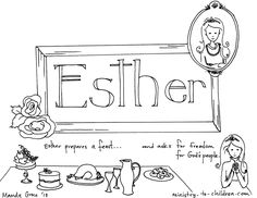 An LDS Primary coloring page from lds.org. Queen Esther