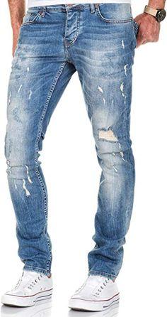 High Fashion Men, Denim Fashion, Men Trousers, Jeans Pants, Ripped Jeans Men, Barefoot Men, Stylish Mens Outfits, Slim Fit, Menswear