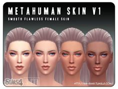 The Sims Resource: Metahuman – V1 Female Skin by Screaming Mustard • Sims 4 Downloads