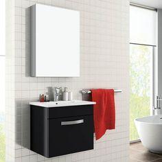 Toledo, Meuble salle de bain 50 cm option armoire de toilette