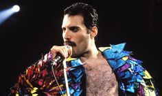 Freddie Mercury of Queen on tour in Oakland, California, in 1982. Photograph: Steve Jennings