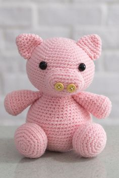 Crochet Percy Pig Pattern Amigurumi beginner-friendly cute