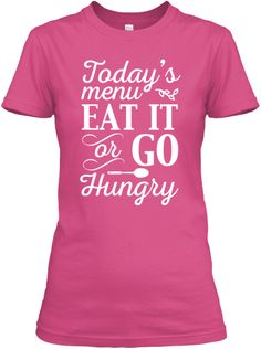 Today's Menu Lunch Lady | Teespring