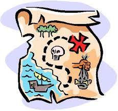 pirate crafts - pirate treasure map