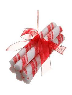 """5.5"""" Peppermint Twist Stick Bundle Christmas Ornament"""