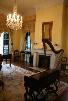 The Music Room in Nottoway Plantation in Louisiana!