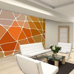 Fotobehang Evolution V - Patchwork Orange - FotobehangFactory. Evolution, Orange, Elegant, Luxury, Wallpaper, Walls, Design Ideas, Inspiration, Home Decor