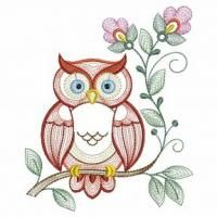 Spring Owls ~ Sweet Heirloom Embroidery