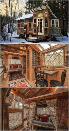 Try out tiny house living in these 18 beautiful holiday homes, Tiny House Living, My House, Little Houses, Tiny Houses, Best Tiny House, Backyard Sheds, Tiny Spaces, Loft, Tiny House Design