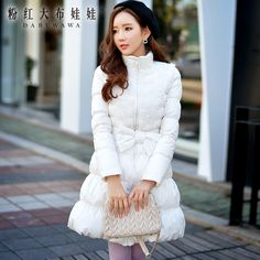 dabuwawa 2016 korean winter fashion slim white duck down garment pink doll-in Down Coats from Women's Clothing & Accessories on Aliexpress.com | Alibaba Group