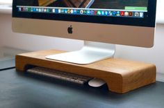 Click here to buy our fantastic Wooden Apple iMac Stand from Make Me Something Special - providers of unique personalised gifts to make a…