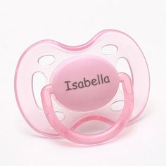 Personalized Pacifiers Pacidoodle Pacifiers Baby Girl Personalized Pacifiers Monogram Pacifier Personalized Baby Girl Gift Pink Pacifier 0-6