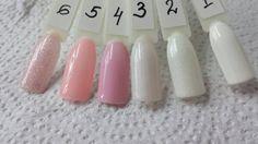 Гель-лаки IBD: 1. Whipped Cream 2. Ivory Tower 3. North Wind 4. Juliet 5. Sweet Melody 6. Debutante Ball