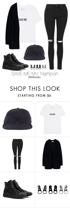 """""""Save Me MV: Namjoon"""" by btsoutfits ❤ liked on Polyvore featuring Topshop, Acne Studios, Converse and Full Tilt"""