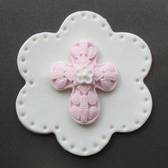 Fondant CROSS Cupcake / Cookie / Cake Toppers by TheARTofCOOKIES, $18.00