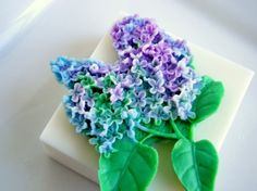 lilac and turquoise