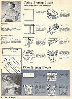 Prostota jest najlepsza - Free Vintage 1940s Blouse Sewing Pattern and Tutorial