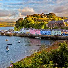 Portree, Isle of Skye, Scotland Sitting out on the Scottish East Hebrides, the Isle of Skye is resplendent with exotic wildlife -- eagles, deer, and Atlantic salmon -- jagged rock formations, lochs, and stunning landscapes