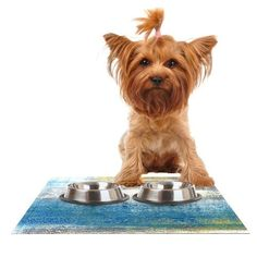 Kess InHouse CarolLynn Tice Make a Statement Feeding Mat for Pet Bowl 24 by 15Inch >>> More info could be found at the image url.