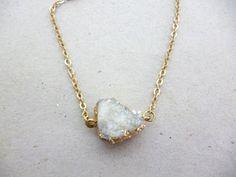 Ethnic Jewelry Gold Druzy Charm Delicate Bracelet JadeEclectic http://etsy.me/1mTPdWD @Etsy #Druzy #Gem #KeiJewelry #Ethnic #Gold #Bracelet