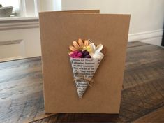 Flower Bouquet Card - Love You Bunches Teachers Day Card, Fathers Day Crafts, Paper Hearts, Mothers Day Cards, Creative Cards, Diy Cards, Homemade Cards, Diy Gifts, Cardmaking